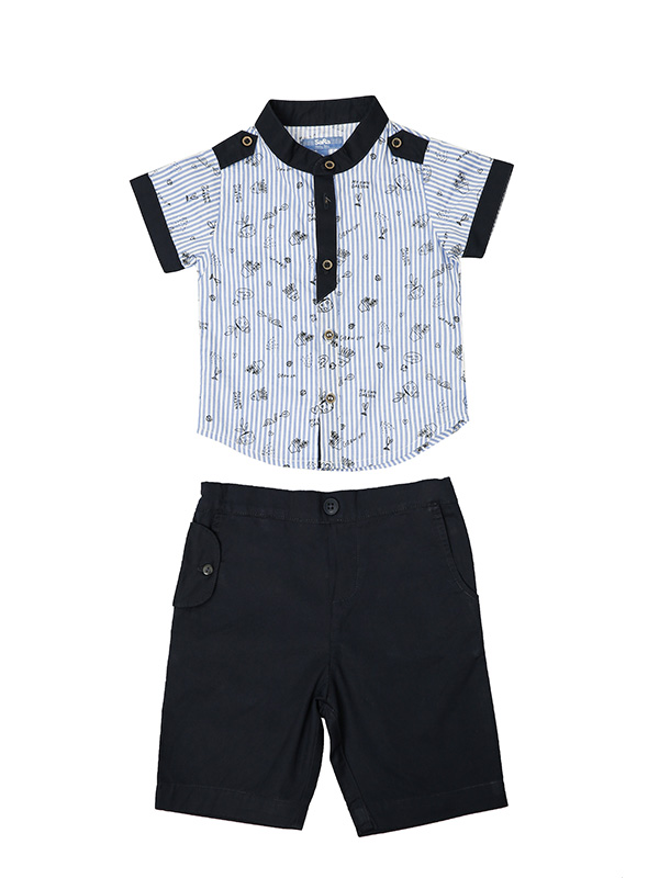 KIDS BOYS' HALF SLEEVE SHIRT & PANT